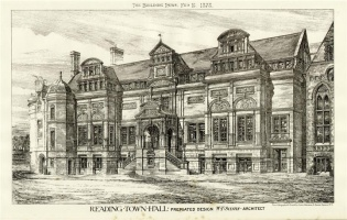 Reading Town Hall Premiated Design 1878